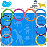 ZTTXL 3D Pen mat, 1 Large 3D Printing Pen Pads with Pattern and 3D Pens Filament with 10 Colors and 2 Finger Protectors