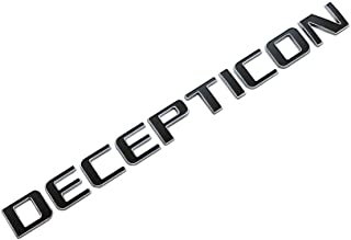 EMBLEM DECEPTICON FOR CARS TRUCKS CHROME WITH BLACK REPLACEMENT