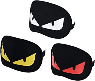 3 Pack Sleep Mask Funny Sleeping Mask Lightweight Blindfold for Sleeping, Travel, Nap, Meditation, Eye Cover with Adjustable Strap for Men, Women and Kids