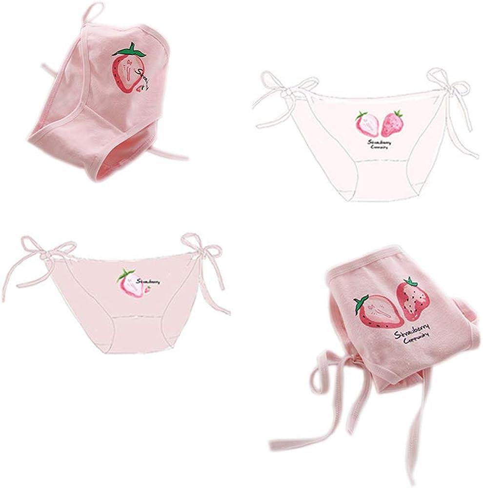 Cute Japanese Style Blue /& Pink Stripe Panties Bikini Cosplay Cotton Underwear Bandage Anime Free Size Hot