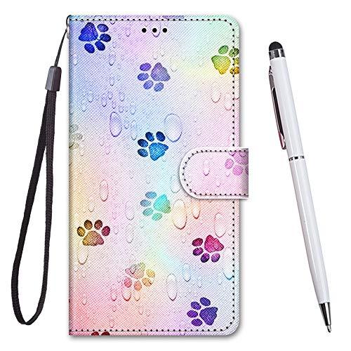 TOUCASA Kompatibel mit Nokia 5.1 Plus/X5 Hülle, Handyhülle für Nokia 5.1 Plus/X5,Brieftasche PU Leder Flip [Kreativ Gemalt] Hülle Handytasche Klapphülle für Nokia 5.1 Plus/X5 (Footprink)