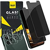 "2. TQLGY [4 Pack] 2 Pack Privacy Screen Protector for iPhone 11 Pro Max (6.5"") Anti Spy Tempered Glass + 2 Pack Camera Lens Protector for iPhone 11 Pro Max 6.5 inch [Case Friendly] [Anti-Scratch] [Bubble Free]"