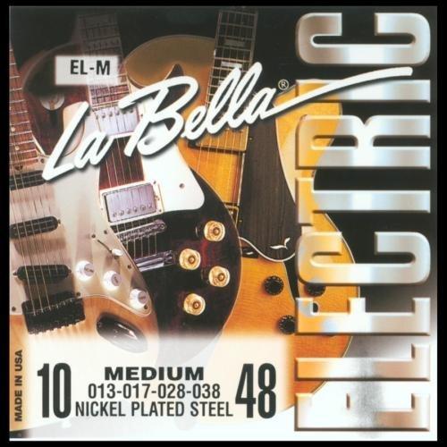 La Bella e instrucciones para hacer cuerdas eléctrica EL-M cuerdas para guitarra eléctrica