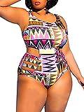YONYWA Womens One Piece High Waist Plus Size Swimsuits Sexy Tummy...
