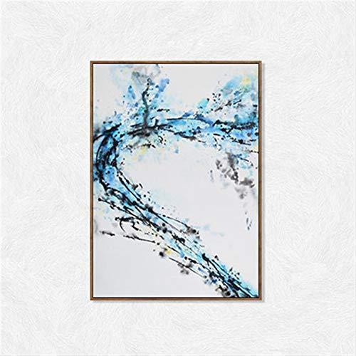 ZHQHYQHHX Abstrakte Wohnzimmerdekoration Malerei Hotel Schlafzimmer Esszimmer Hintergrund Wandgemälde Zwei Wandbilder (40 * 50 cm) Hängende Malerei (Color : Wood Grain, Size : A)