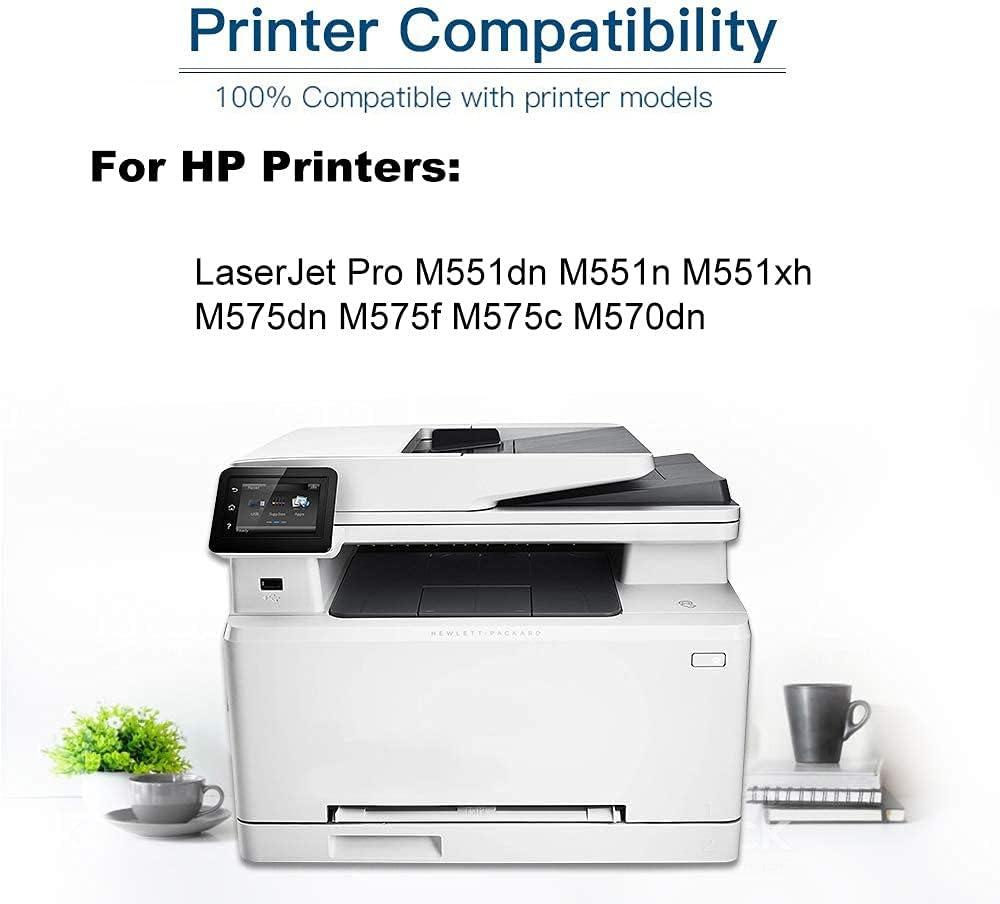 1-Pack (Black) Compatible M551dn M551n M551xh Laser Printer Toner Cartridge (High Capacity) Replacement for HP 507X (CE400X) Printer Toner Cartridge