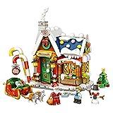 Mini Edificio Casa De Navidad Set De Construcción 3en1 Juguete De Construcción Para Niñas Y Niños Con Mini Figuras Figura Muñeco De Nieve Santa Trineo