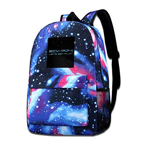 Galaxy Backpack Printed Shoulders Bag USS Orville Ecv 197 1 Lets Get Flat Fashion Casual Star Sky Backpack for Boys&Girls