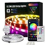 Led Strip Lights with Remote, 12.2m APP Control Led Lights for Bedroom, Room, Home RGB 5050 Color Changing Led Lights