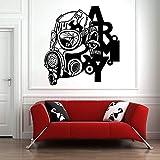 Tatuajes de pared Anti-virus Mural Vinilo removible Etiqueta de la pared Teen Room Abstract Home Decor 88x84cm