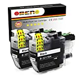 OBENO - 2 Negro - LC3217 LC3219 2 Paquetes Cartucho de Tinta Compatible para Brother MFC-J5330DW MFC-J5335DW MFC-J5730DW MFC-J5930DW MFC-J6530DW MFC-J6930DW / J6935DW (2 Negro)