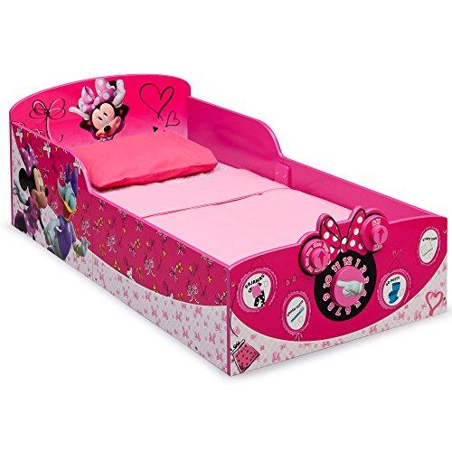 Delta Children Interactive Wood Toddler Bed, Disney Minnie Mouse