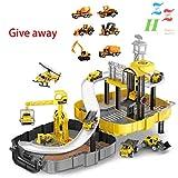 ZZH Mochila Plegable Toy Toy Cars Aleación Coche Toy Storey Track DIY Modelo Ensamblaje Construcción Juguetes con Track Set con,A1