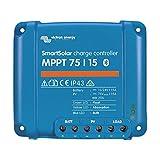 Premium Set Victron Smart Solar MPPT 75/15 regulador de carga para caravanas, incluye Bluetooth