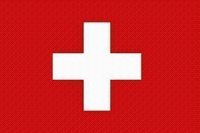Drapeau suisse 90 x 150 cm, très résistant, sans cadre, pas de tissu en porcelaine pas cher, poids 100 g / m², oeillets en laiton ronds très résistants et très cousus