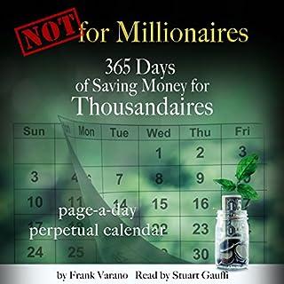 Not for Millionaires audiobook cover art