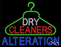 26x 20x 1インチDry Cleaners Alterationアニメーション点滅LEDウィンドウサイン