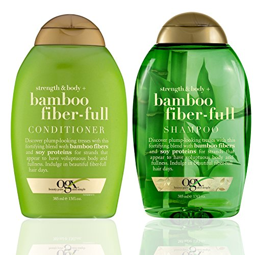 Ogx ~ Bamboo Fiber-Full Shampoo and Conditioner Set, 13oz each~ by OGX