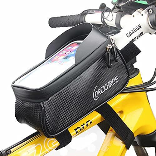 YZX Bolsa Bici, al Aire Libre Bolsa de Tubo Superior para Montar en Bicicleta de montaña/Carretera, Sombreado Pantalla táctil Impermeable Teléfono móvil Bicicleta Bolsa de sillín