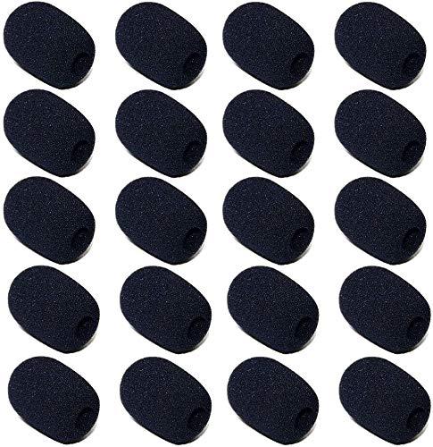 MAIQIU Schaumstoff-Mikrofon-Windschutz, Revers-Headset-Mikrofon-Schwamm, Mini-Schaumstoff-Abdeckung, Schutz für verschiedene Headset-Mikrofone (schwarz)