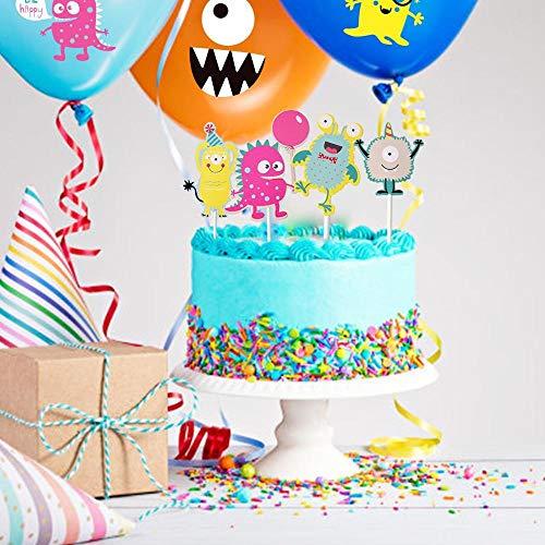 Party Dekoration 10 Stück Spaß Kleines Monster Geburtstagsfeier Cupcake Toppers Kit Dekorationen Baby Boys Dusche1. Geburtstagsfeier Dekorationen Kinder, China