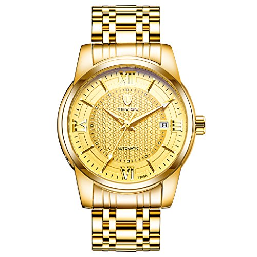 Sharplace Herren Edelstahl Gliederkette Armband Uhr Weihnachten Hochzeit Geburtstag Geschenk