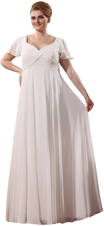 SecretCastle Women's Floor Length VNeck Wedding Dresses Bridal Gown Plus size