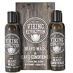 Viking Revolution Beard Wash & Beard Conditioner Set w/Argan & Jojoba Oils – Softens, Smooths & Strengthens Beard Growth… 2