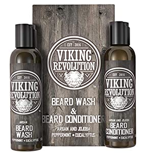 Viking Revolution Beard Wash & Beard Conditioner Set w/Argan & Jojoba Oils – Softens, Smooths & Strengthens Beard Growth… 7