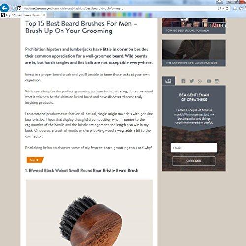 Bartbürste mit Wildschweinborsten, Walnussholz, Rundes Design Abbildung 2