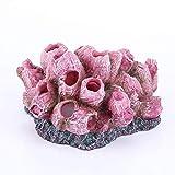 QULONG Decoraciones de jardín de Acuario Planta de Coral Artificial para pecera Adorno Decorativo de Arrecife de Acuario Pequeño escondite de Peces