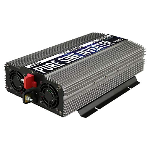 GoWISE Power 1500W Pure Sine Wave Power Inverter 12V DC to 120 V AC with 3 AC Outlets, 1 5V USB Port, 2 Battery Cables, and Remote Switch (3000W Peak) PS1005 (Brand Name/Packaging May Vary)