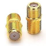 IUANC 5pcs F Tipo Conector Mujer F/F Jacobo RG6 Cable coaxial coaxial SMA RF Conector de coaxico (Color : As Shown)