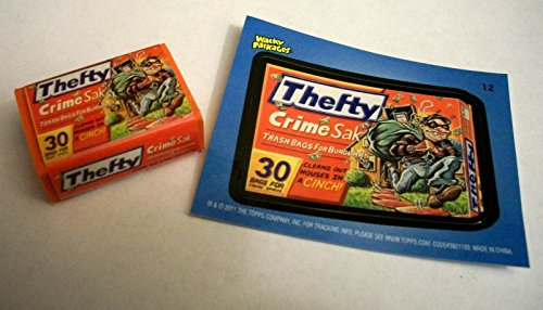 Wacky Packages Eraser Series2 **Thefty** Eraser & Matching Sticker #12