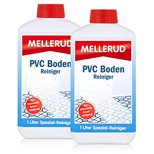 2X MELLERUD PVC Boden Reiniger 1,0 Liter Kunststoff Gummi Linoleum Vinyl