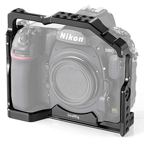SMALLRIG D850 Cage mit Eingebaut Cold Shoe und NATO Rails für Nikon D850-2129