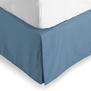 Bare Home Bed Skirt Double Brushed Premium Microfiber, 15-Inch Tailored Drop Pleated Dust Ruffle, 1800 Ultra-Soft, Shrink and Fade Resistant (Queen, Coronet Blue)