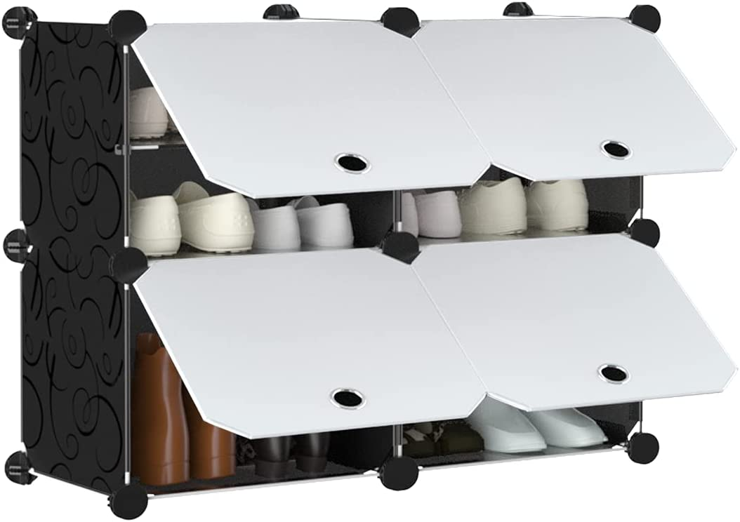 Anenz Shoe Rack Organizer - Deluxe Storage Super special price Fit 12-Pair Entr Cabinet for