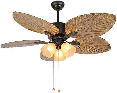 GFFXIQI Ventilateur de Plafond Tropical 52 Pouces Palm, Cinq