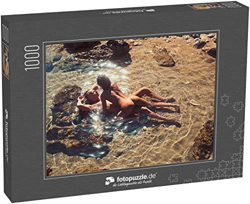 fotopuzzle.de Puzzle 1000 Teile Verliebtes Paar in sexy Körper entspannen am Strand