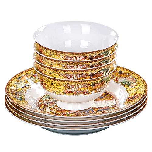 WCY Especialmente diseñado Qingming Shanghetu vidriada Bone China Vajilla Platos de cerámica Set |Platos, 28pcs (28pcs) Color: yqaae (Color : 28pcs)