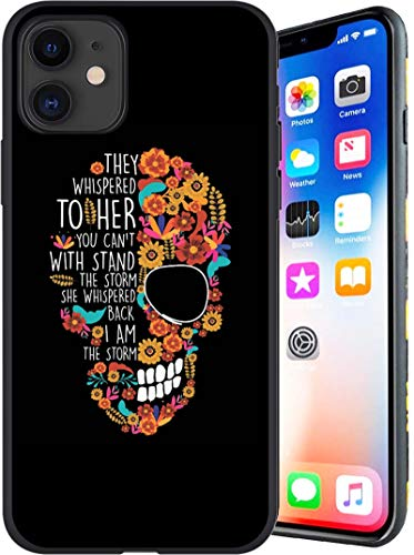 Designed for iPhone 11 Case, Flower-Sugar-Skull iPhone 11 Case for Women/Girls/Boys,Anti Scratch Shockproof Drop Protection Soft Cover, Fashion Back Cover Soft TPU Bumper Frame Full Body Case