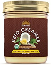 Organic Keto Coffee Creamer with MCT Oil - High-Fat Keto Diet Friendly Grass Fed Ghee and Coconut Oil - No Carb Keto Fat Bomb Booster Keto Creamer with Omega Sugar Free Paleo Power
