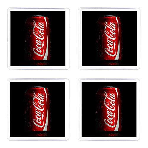 Set di 4 Sottobicchieri Coca Cola lattina