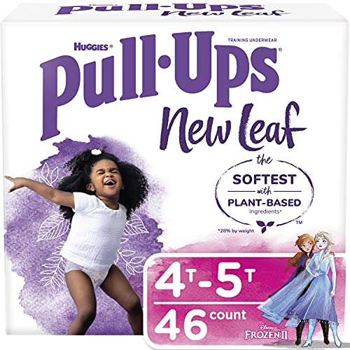 Girls Potty Training Underwear, 4T-5T, Pull Ups New Leaf for Toddlers, 46ct,...