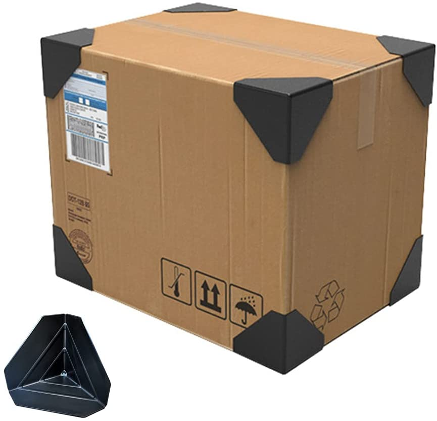 [80 Pack] Shipping Box Corner Protectors Plastic Packaging Edge Protectors , Carton Packing Corner Guard Frame Corner Protectors 60 Type Handcraft Packaging Plastic Protector for Express Box Packaging.
