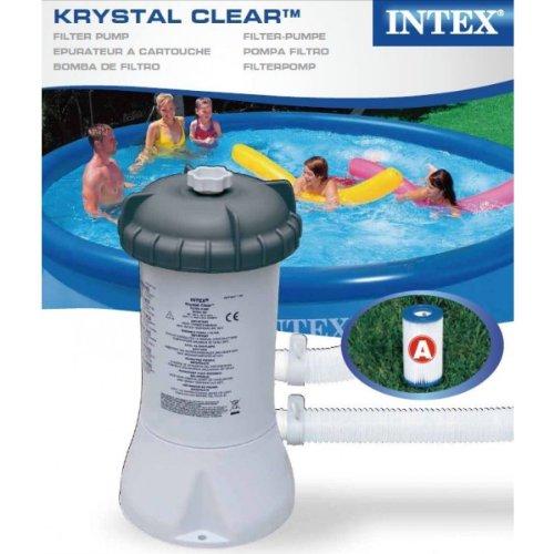 Intex Krystal Clear Swimming Pool Filter Pump & Cartridge for 8ft/10ft/12ft Pool