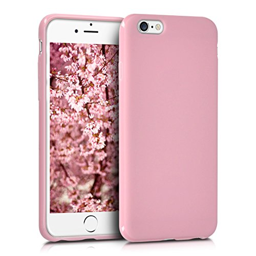 kwmobile Cover Compatibile con Apple iPhone 6 / 6S - Custodia in Silicone TPU - Backcover Protezione Posteriore- Rosa Antico Matt