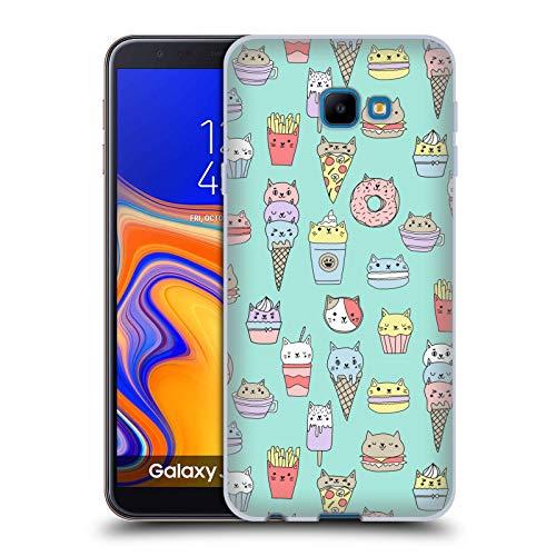 Officiële Andrea Lauren Design Kattenvoer Voedsel Patroon Soft Gel Case Compatibel voor Samsung Galaxy J4 Core