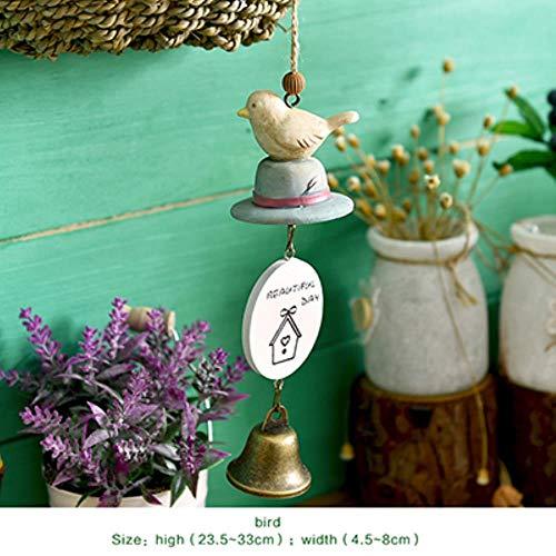 FXG DIY Totoro Wind Chime Kid decoración del hogar Linda habitación de niña decoración del hogar Campana Colgante Regalo de cumpleaños Resina Animal Wind Chimes, niao
